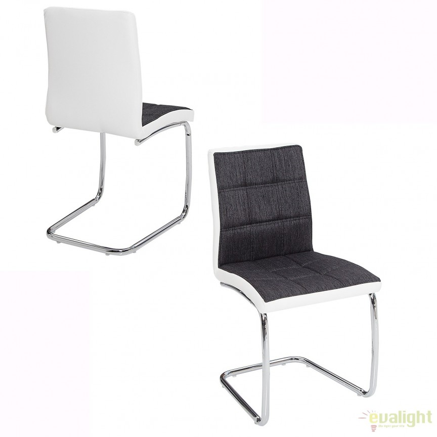 Set de 4 scaune elegante si moderne cu design ergonomic, Modena, antracit/ alb A-37984 VC, Seturi scaune dining, scaune HoReCa, Corpuri de iluminat, lustre, aplice, veioze, lampadare, plafoniere. Mobilier si decoratiuni, oglinzi, scaune, fotolii. Oferte speciale iluminat interior si exterior. Livram in toata tara.  a
