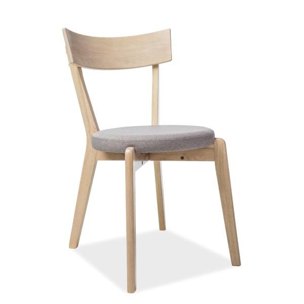 Scaun modern din lemn cu sezut tapitat, NELSON gri NELSONDMSZ SM, Scaune dining , Corpuri de iluminat, lustre, aplice, veioze, lampadare, plafoniere. Mobilier si decoratiuni, oglinzi, scaune, fotolii. Oferte speciale iluminat interior si exterior. Livram in toata tara.  a