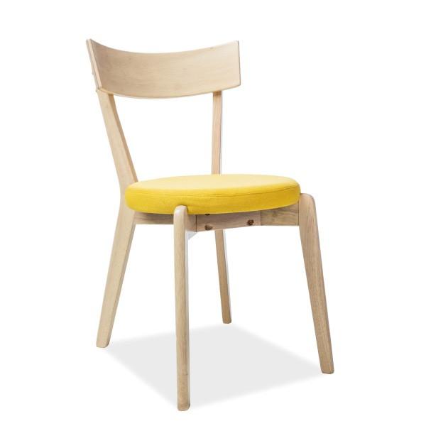 Scaun modern din lemn cu sezut tapitat, NELSON galben NELSONDMZO SM, Scaune dining , Corpuri de iluminat, lustre, aplice, veioze, lampadare, plafoniere. Mobilier si decoratiuni, oglinzi, scaune, fotolii. Oferte speciale iluminat interior si exterior. Livram in toata tara.  a