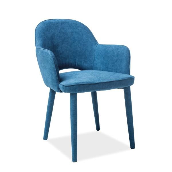 Scaun elegant tapitat cu tesatura fina ROBIN albastru ROBINGR SM, Magazin, Corpuri de iluminat, lustre, aplice, veioze, lampadare, plafoniere. Mobilier si decoratiuni, oglinzi, scaune, fotolii. Oferte speciale iluminat interior si exterior. Livram in toata tara.  a