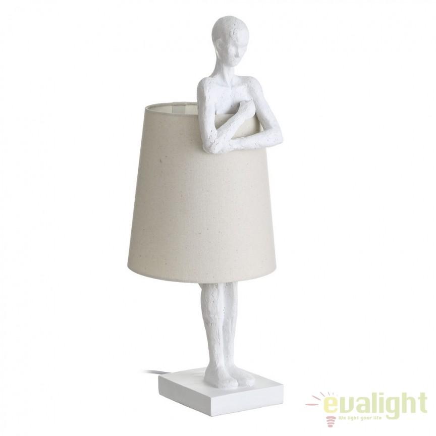 Veioza rustica / Lampa de masa decorativa ESCULTURA SX-104537, Veioze, Corpuri de iluminat, lustre, aplice, veioze, lampadare, plafoniere. Mobilier si decoratiuni, oglinzi, scaune, fotolii. Oferte speciale iluminat interior si exterior. Livram in toata tara.  a