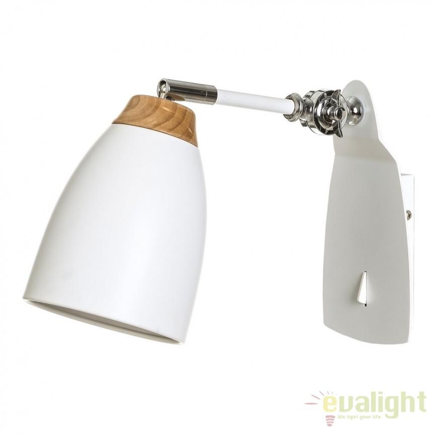 Aplica perete moderna directionabila Blanco SX-104310, Spoturi - iluminat - cu 1 spot, Corpuri de iluminat, lustre, aplice, veioze, lampadare, plafoniere. Mobilier si decoratiuni, oglinzi, scaune, fotolii. Oferte speciale iluminat interior si exterior. Livram in toata tara.  a