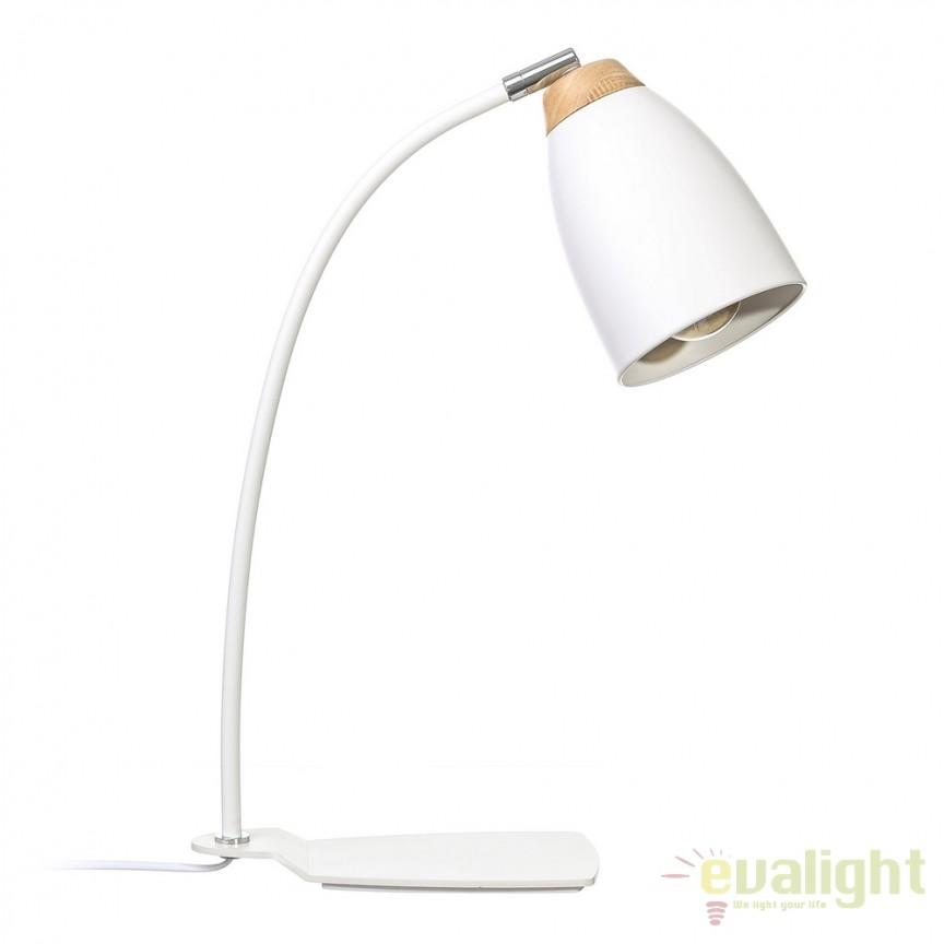 Veioza birou moderna design minimalist Blanco SX-104311, Veioze de Birou moderne, Corpuri de iluminat, lustre, aplice, veioze, lampadare, plafoniere. Mobilier si decoratiuni, oglinzi, scaune, fotolii. Oferte speciale iluminat interior si exterior. Livram in toata tara.  a