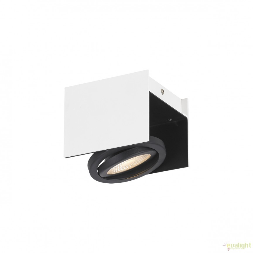 Plafoniera, aplica de perete moderna LED, negru-alb, VIDAGO 39315 EL, Spoturi - iluminat - cu 1 spot, Corpuri de iluminat, lustre, aplice, veioze, lampadare, plafoniere. Mobilier si decoratiuni, oglinzi, scaune, fotolii. Oferte speciale iluminat interior si exterior. Livram in toata tara.  a