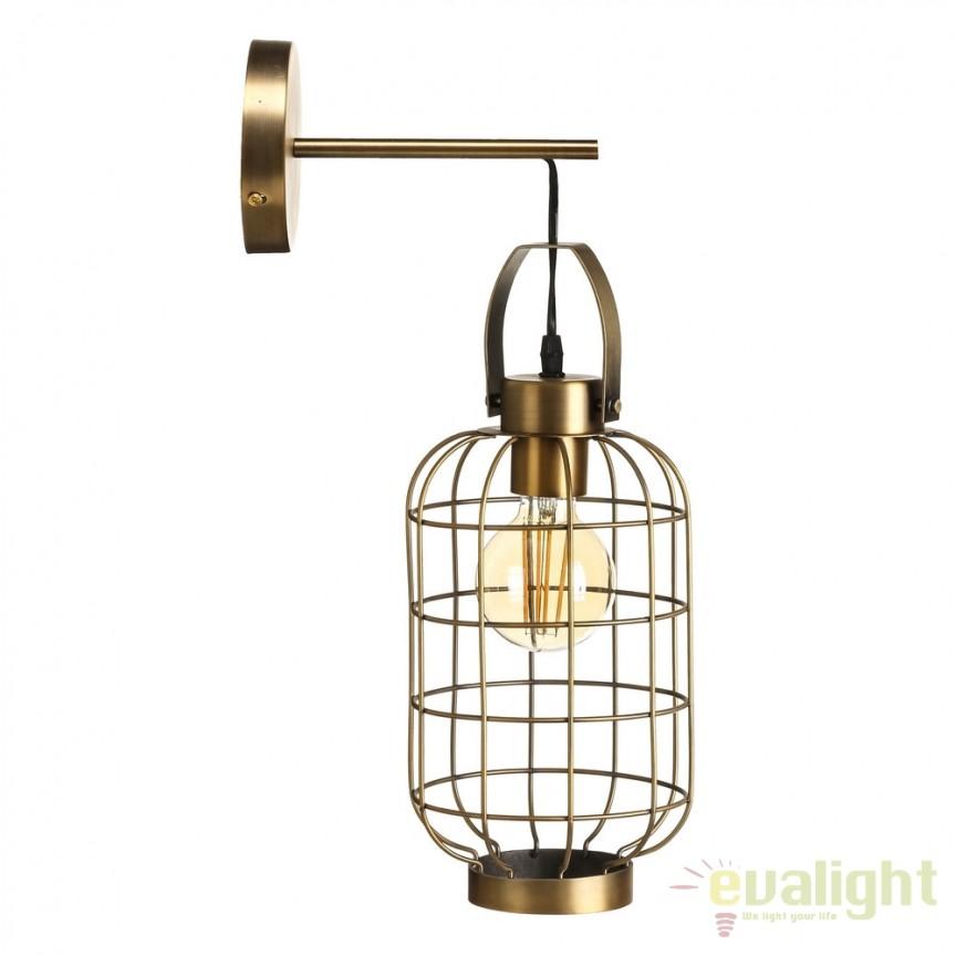 Aplica de perete stil industrial Gramy III SX-104081, Aplice de perete, Corpuri de iluminat, lustre, aplice, veioze, lampadare, plafoniere. Mobilier si decoratiuni, oglinzi, scaune, fotolii. Oferte speciale iluminat interior si exterior. Livram in toata tara.  a