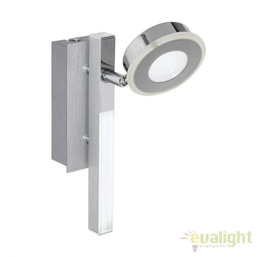 Aplica de perete moderna cu 1 spot LED, CARDILLIO 95996 EL, Aplice de perete LED, Corpuri de iluminat, lustre, aplice, veioze, lampadare, plafoniere. Mobilier si decoratiuni, oglinzi, scaune, fotolii. Oferte speciale iluminat interior si exterior. Livram in toata tara.  a
