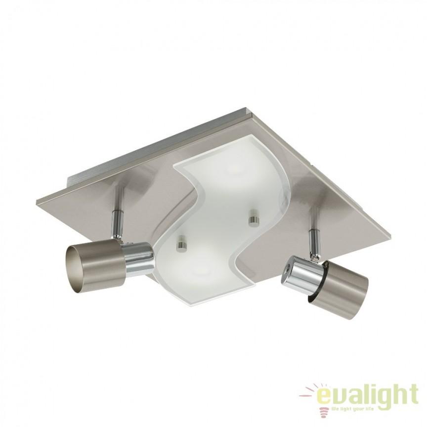 Aplica de perete, plafoniera moderna cu 2 spot-uri GU10-LED, 29X29, DIRUS 96398 EL, Spoturi - iluminat - cu 2 spoturi, Corpuri de iluminat, lustre, aplice, veioze, lampadare, plafoniere. Mobilier si decoratiuni, oglinzi, scaune, fotolii. Oferte speciale iluminat interior si exterior. Livram in toata tara.  a