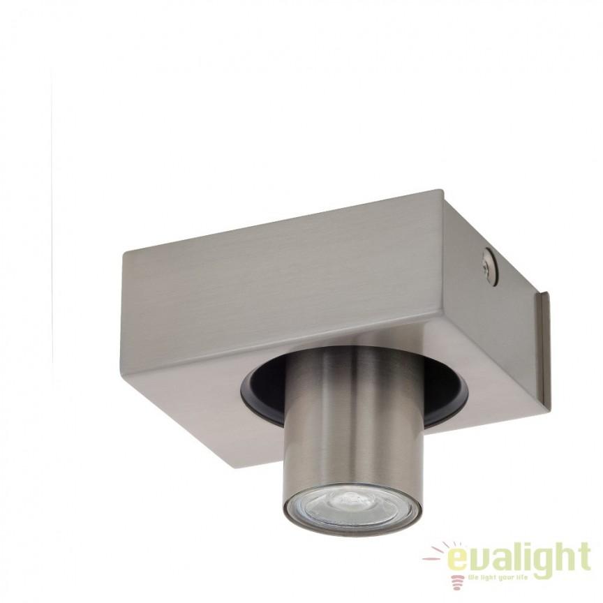Aplica de perete, plafoniera moderna din metal, GU10-LED, ROBLEDO 1 96605 EL, Spoturi - iluminat - cu 1 spot, Corpuri de iluminat, lustre, aplice, veioze, lampadare, plafoniere. Mobilier si decoratiuni, oglinzi, scaune, fotolii. Oferte speciale iluminat interior si exterior. Livram in toata tara.  a