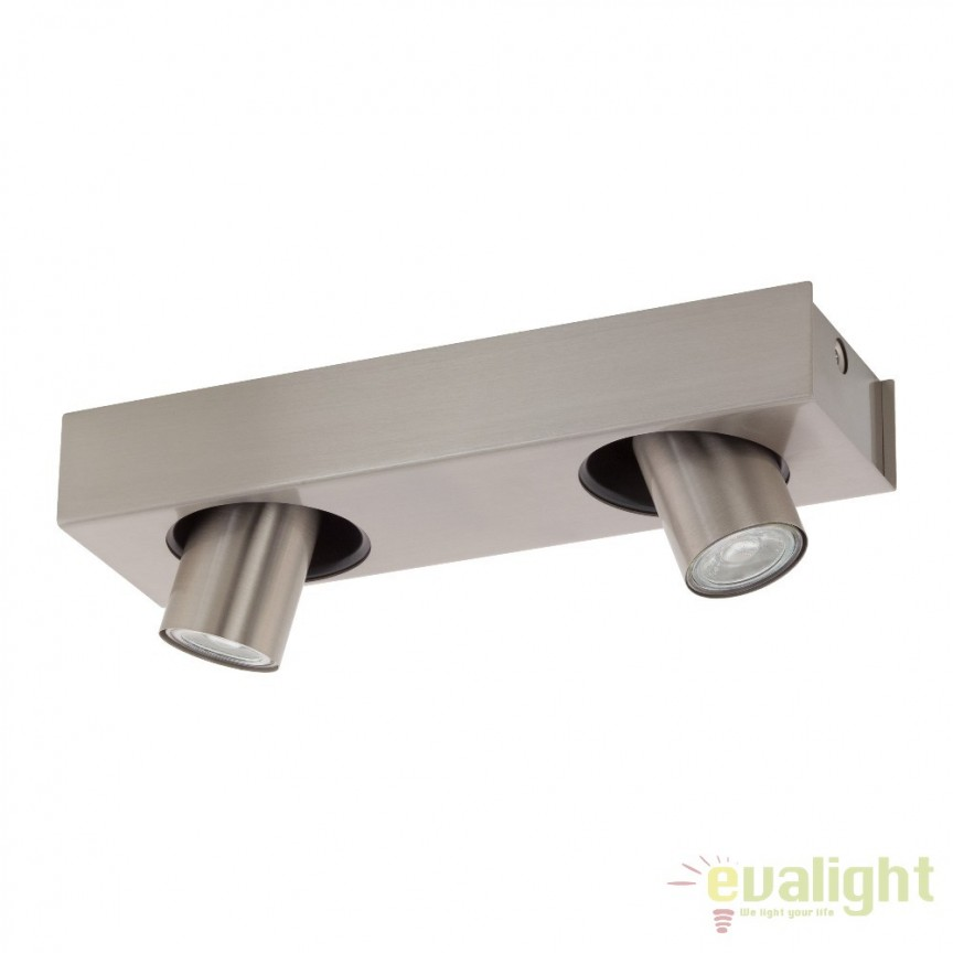 Plafoniera moderna din metal cu 2 spoturi, GU10-LED, ROBLEDO 1 96606 EL, Spoturi - iluminat - cu 2 spoturi, Corpuri de iluminat, lustre, aplice, veioze, lampadare, plafoniere. Mobilier si decoratiuni, oglinzi, scaune, fotolii. Oferte speciale iluminat interior si exterior. Livram in toata tara.  a