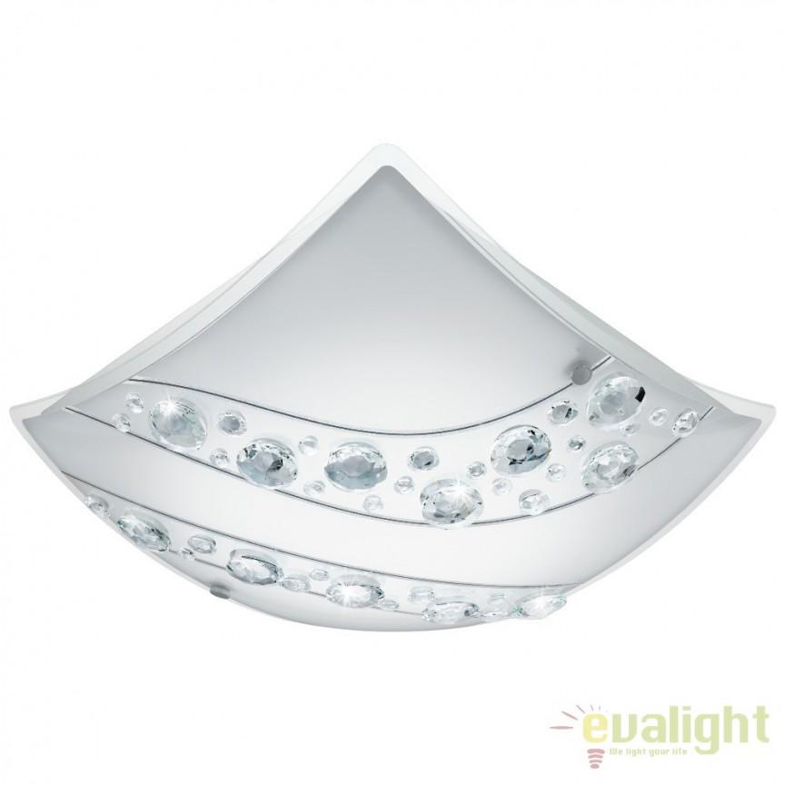 Aplica, plafoniera moderna cu cristale din sticla, LED, NERINI 95578 EL, Aplice de perete LED, Corpuri de iluminat, lustre, aplice, veioze, lampadare, plafoniere. Mobilier si decoratiuni, oglinzi, scaune, fotolii. Oferte speciale iluminat interior si exterior. Livram in toata tara.  a