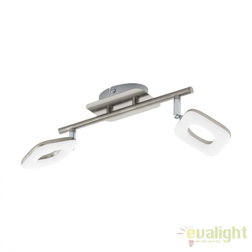 Plafoniera moderna din metal cu 2 spoturi LED, LITAGO 97007 EL, Spoturi - iluminat - cu 2 spoturi, Corpuri de iluminat, lustre, aplice, veioze, lampadare, plafoniere. Mobilier si decoratiuni, oglinzi, scaune, fotolii. Oferte speciale iluminat interior si exterior. Livram in toata tara.  a
