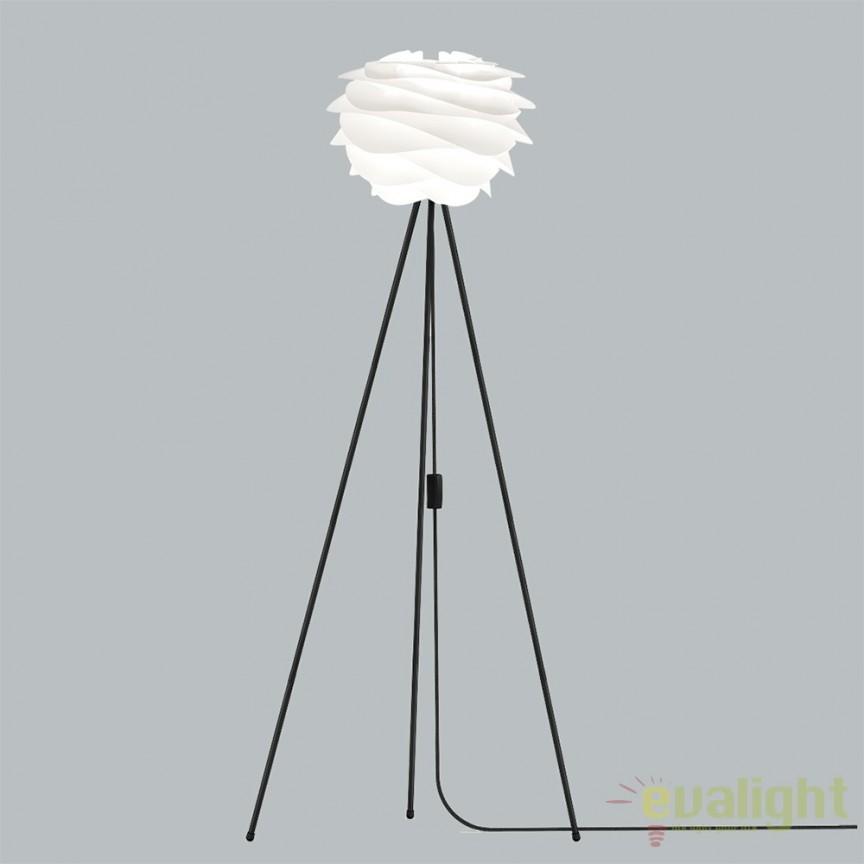 Lampadar modern cu trepied, design scandinav Carmina Mini, alb 2057+4016-negru VTC, PROMOTII, Corpuri de iluminat, lustre, aplice, veioze, lampadare, plafoniere. Mobilier si decoratiuni, oglinzi, scaune, fotolii. Oferte speciale iluminat interior si exterior. Livram in toata tara.  a