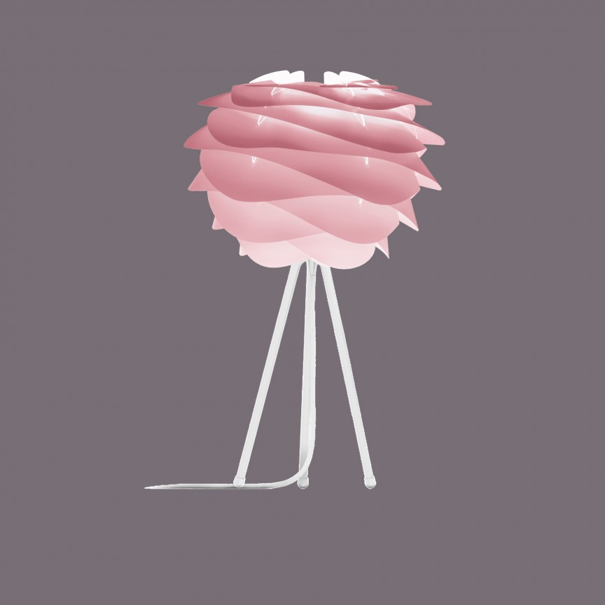 Veioza moderna cu trepied Carmina Mini, roz 2080+4021- alb VTC, Lustre - Iluminat pentru camera Copii, Corpuri de iluminat, lustre, aplice, veioze, lampadare, plafoniere. Mobilier si decoratiuni, oglinzi, scaune, fotolii. Oferte speciale iluminat interior si exterior. Livram in toata tara.  a