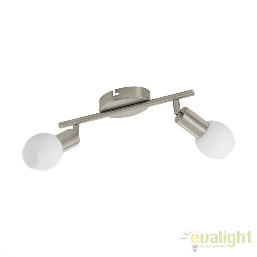 Plafoniera, lustra moderna cu 2 spoturi LED, VEDRA 1 96912 EL, Spoturi - iluminat - cu 2 spoturi, Corpuri de iluminat, lustre, aplice, veioze, lampadare, plafoniere. Mobilier si decoratiuni, oglinzi, scaune, fotolii. Oferte speciale iluminat interior si exterior. Livram in toata tara.  a