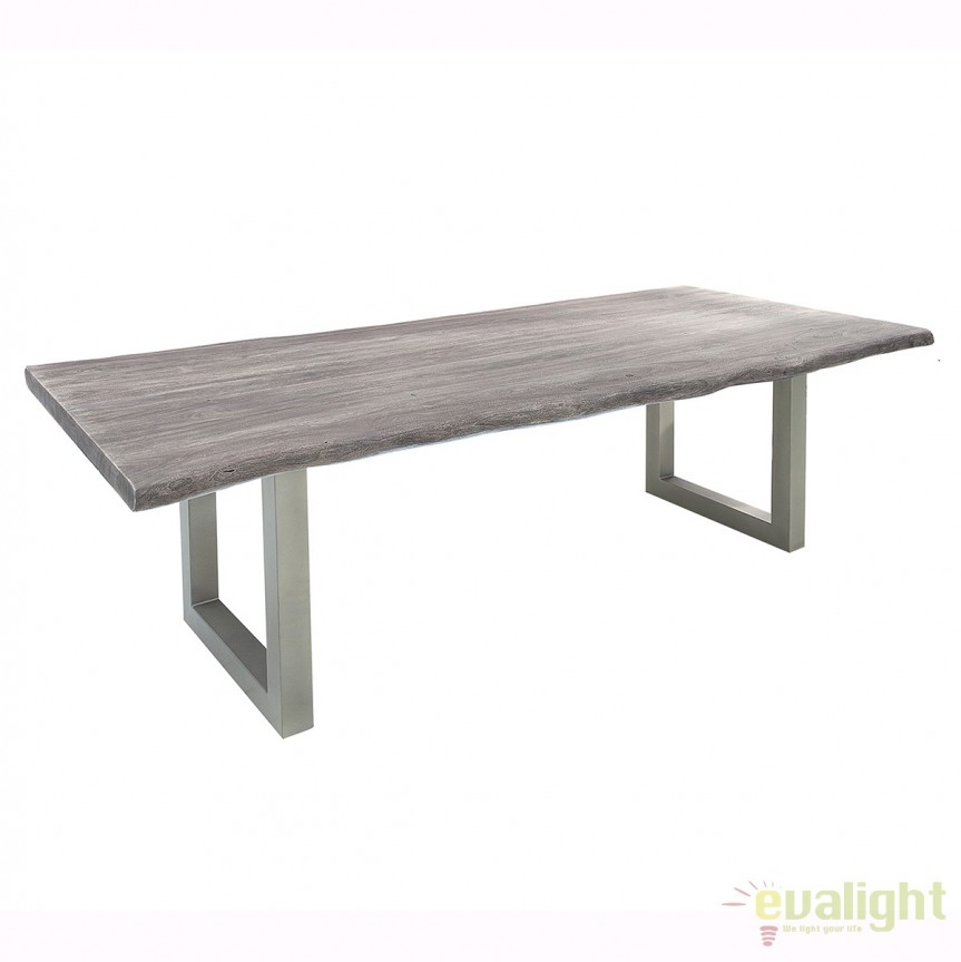 Masa din lemn design industrial style Mammut 240cm otel/ salcam gri, A-37242 VC , Mese dining, Corpuri de iluminat, lustre, aplice, veioze, lampadare, plafoniere. Mobilier si decoratiuni, oglinzi, scaune, fotolii. Oferte speciale iluminat interior si exterior. Livram in toata tara.  a