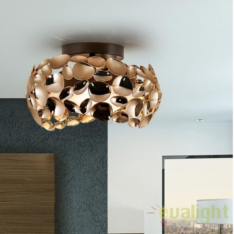 Plafoniera eleganta design modern Narisa 32cm, roze gold SV-266973N, PROMOTII,  a