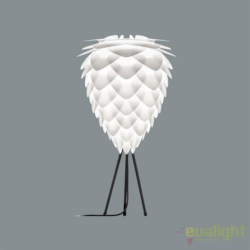 Veioza moderna cu trepied Conia 40cm, alb 2017+4022-negru VTC, Veioze, Lampi de masa, Corpuri de iluminat, lustre, aplice, veioze, lampadare, plafoniere. Mobilier si decoratiuni, oglinzi, scaune, fotolii. Oferte speciale iluminat interior si exterior. Livram in toata tara.  a