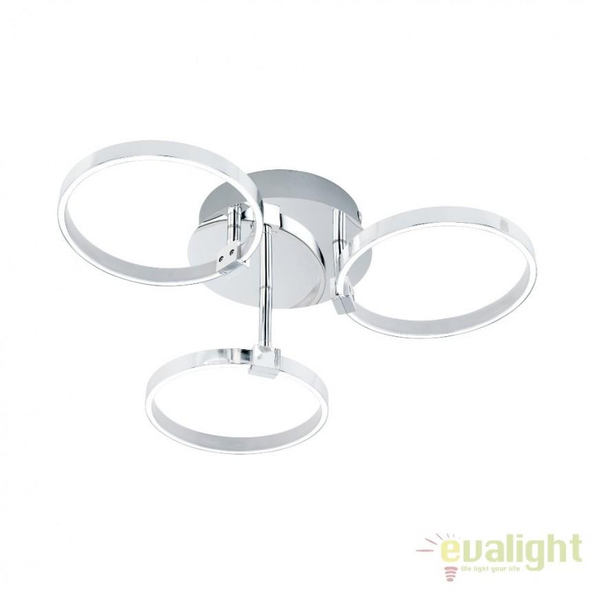 Plafoniera design modern LED, diametru 44cm, NEBREDA 96638 EL, ILUMINAT INTERIOR LED , ⭐ modele moderne de lustre LED cu telecomanda potrivite pentru living, bucatarie, birou, dormitor, baie, camera copii (bebe si tineret), casa scarii, hol. ✅Design de lux premium actual Top 2020! ❤️Promotii lampi LED❗ ➽ www.evalight.ro. Alege oferte la sisteme si corpuri de iluminat cu LED dimabile (becuri cu leduri si module LED integrate cu lumina calda, naturala sau rece), ieftine si de lux, calitate deosebita la cel mai bun pret. a
