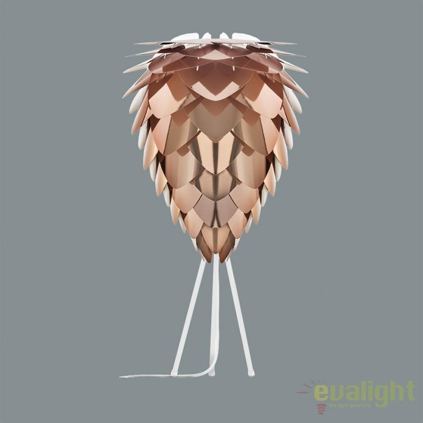 Veioza moderna Conia diametru 40cm, cupru 2032+4021- alb VTC, Veioze, Lampi de masa, Corpuri de iluminat, lustre, aplice, veioze, lampadare, plafoniere. Mobilier si decoratiuni, oglinzi, scaune, fotolii. Oferte speciale iluminat interior si exterior. Livram in toata tara.  a