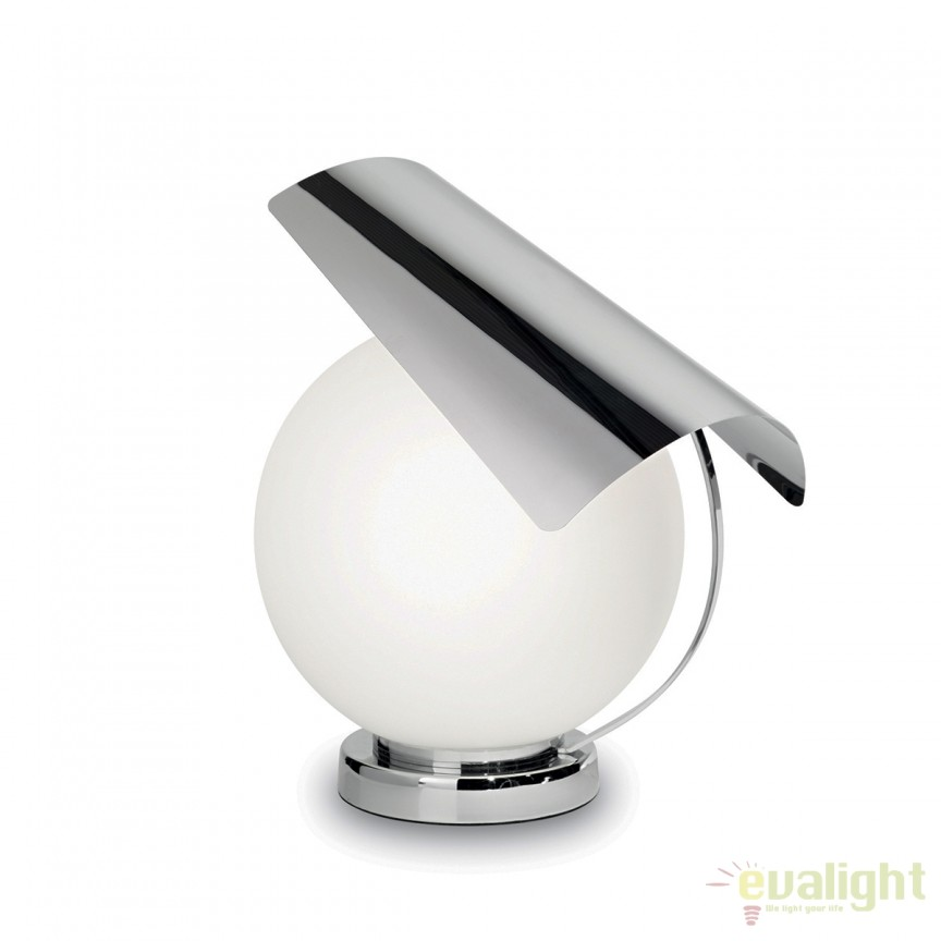 Veioza / Lampa de masa design modern PENOMBRA TL1 crom 176611, Veioze, Lampi de masa, Corpuri de iluminat, lustre, aplice, veioze, lampadare, plafoniere. Mobilier si decoratiuni, oglinzi, scaune, fotolii. Oferte speciale iluminat interior si exterior. Livram in toata tara.  a