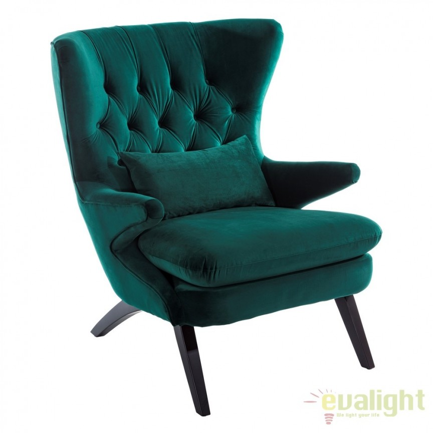 Fotoliu elegant si confortabil Ardely verde DZ-103265, Fotolii - Fotolii extensibile, Corpuri de iluminat, lustre, aplice, veioze, lampadare, plafoniere. Mobilier si decoratiuni, oglinzi, scaune, fotolii. Oferte speciale iluminat interior si exterior. Livram in toata tara.  a