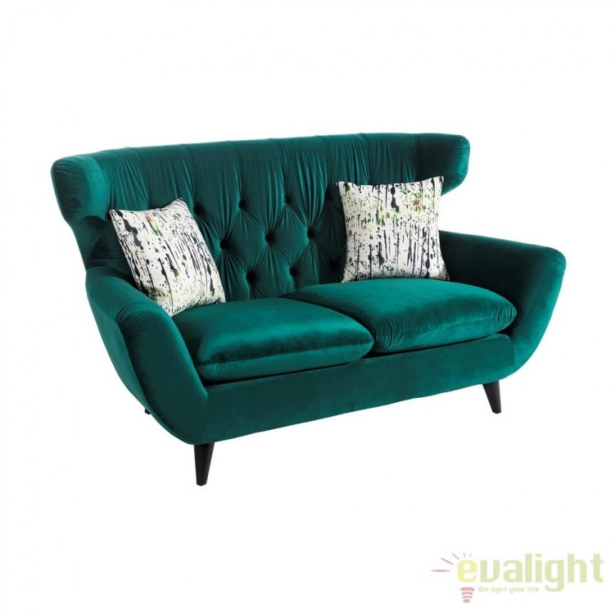 Canapea fixa 2 locuri, confortabila design elegant, Ardely verde DZ-103266, Canapele - Coltare, Corpuri de iluminat, lustre, aplice, veioze, lampadare, plafoniere. Mobilier si decoratiuni, oglinzi, scaune, fotolii. Oferte speciale iluminat interior si exterior. Livram in toata tara.  a