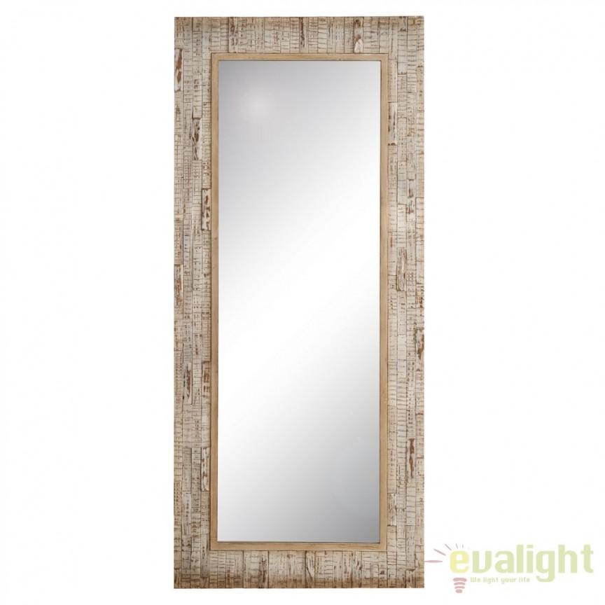 Oglinda design rustic cu rama din lemn Abeto, 76,5x175cm SX-102377, Oglinzi decorative, Corpuri de iluminat, lustre, aplice, veioze, lampadare, plafoniere. Mobilier si decoratiuni, oglinzi, scaune, fotolii. Oferte speciale iluminat interior si exterior. Livram in toata tara.  a