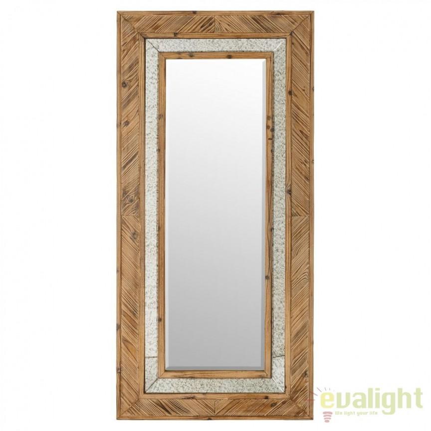 Oglinda design rustic cu rama din lemn Abeto, 74x155cm SX-91010, Oglinzi decorative, Corpuri de iluminat, lustre, aplice, veioze, lampadare, plafoniere. Mobilier si decoratiuni, oglinzi, scaune, fotolii. Oferte speciale iluminat interior si exterior. Livram in toata tara.  a