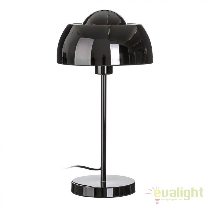 Veioza/ Lampa de masa design modern BRIGHTNESS gri SX-104111, Veioze, Lampi de masa, Corpuri de iluminat, lustre, aplice, veioze, lampadare, plafoniere. Mobilier si decoratiuni, oglinzi, scaune, fotolii. Oferte speciale iluminat interior si exterior. Livram in toata tara.  a