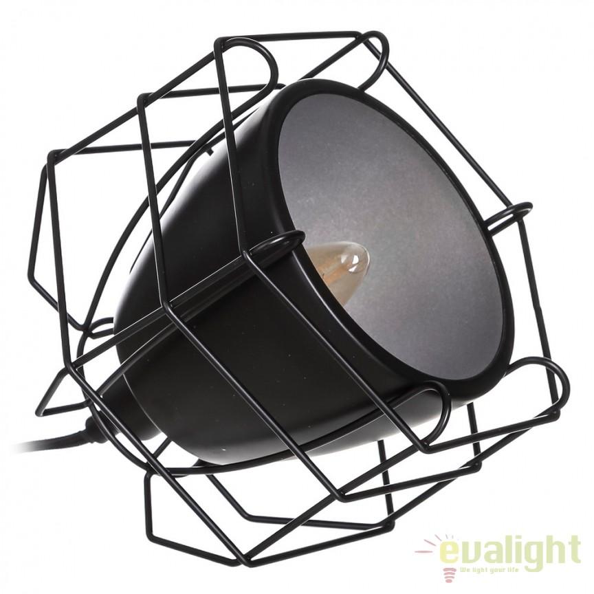 Veioza/ Lampa de masa design modern Renae negru SX-104117, Veioze, Lampi de masa, Corpuri de iluminat, lustre, aplice, veioze, lampadare, plafoniere. Mobilier si decoratiuni, oglinzi, scaune, fotolii. Oferte speciale iluminat interior si exterior. Livram in toata tara.  a