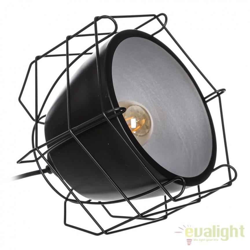 Veioza / Lampa de masa design modern Renae 26cm negru SX-104118, Veioze, Lampi de masa, Corpuri de iluminat, lustre, aplice, veioze, lampadare, plafoniere. Mobilier si decoratiuni, oglinzi, scaune, fotolii. Oferte speciale iluminat interior si exterior. Livram in toata tara.  a