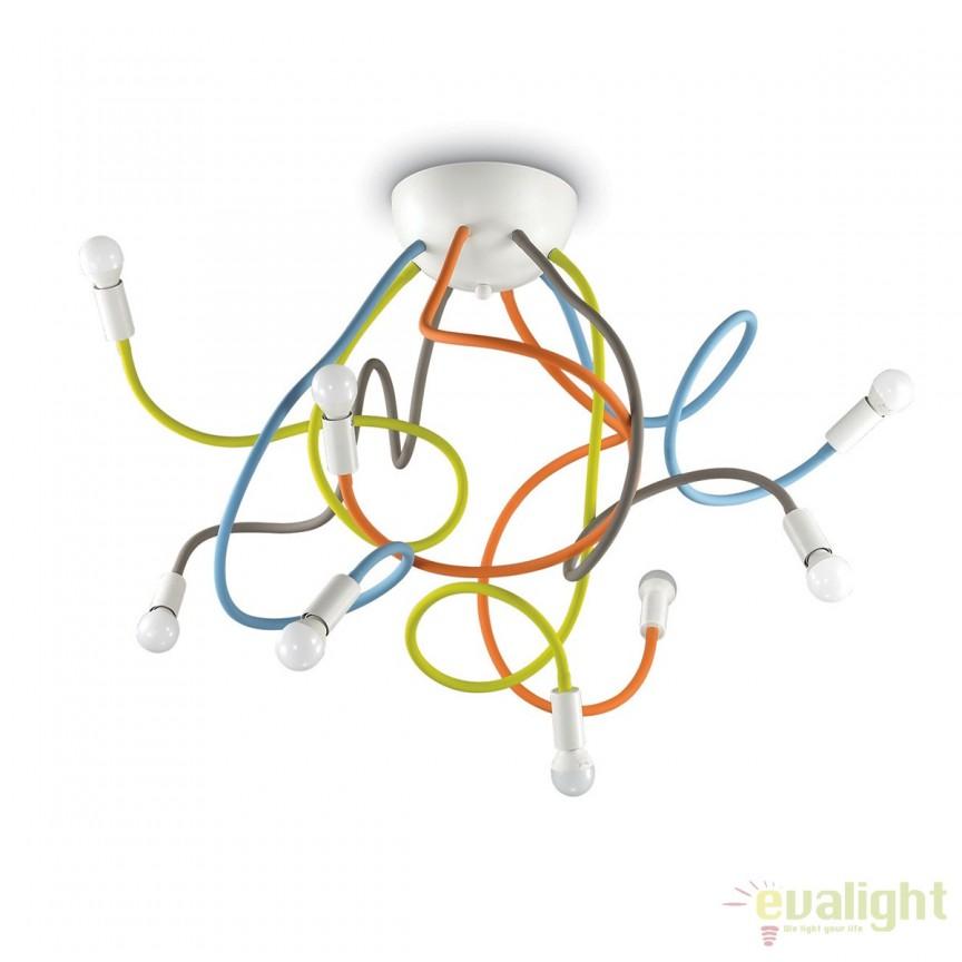 Lustra aplicata cu brate flexibile, MULTIFLEX PL8 COLOR 159010, Lustre - Iluminat pentru camera Copii, Corpuri de iluminat, lustre, aplice, veioze, lampadare, plafoniere. Mobilier si decoratiuni, oglinzi, scaune, fotolii. Oferte speciale iluminat interior si exterior. Livram in toata tara.  a