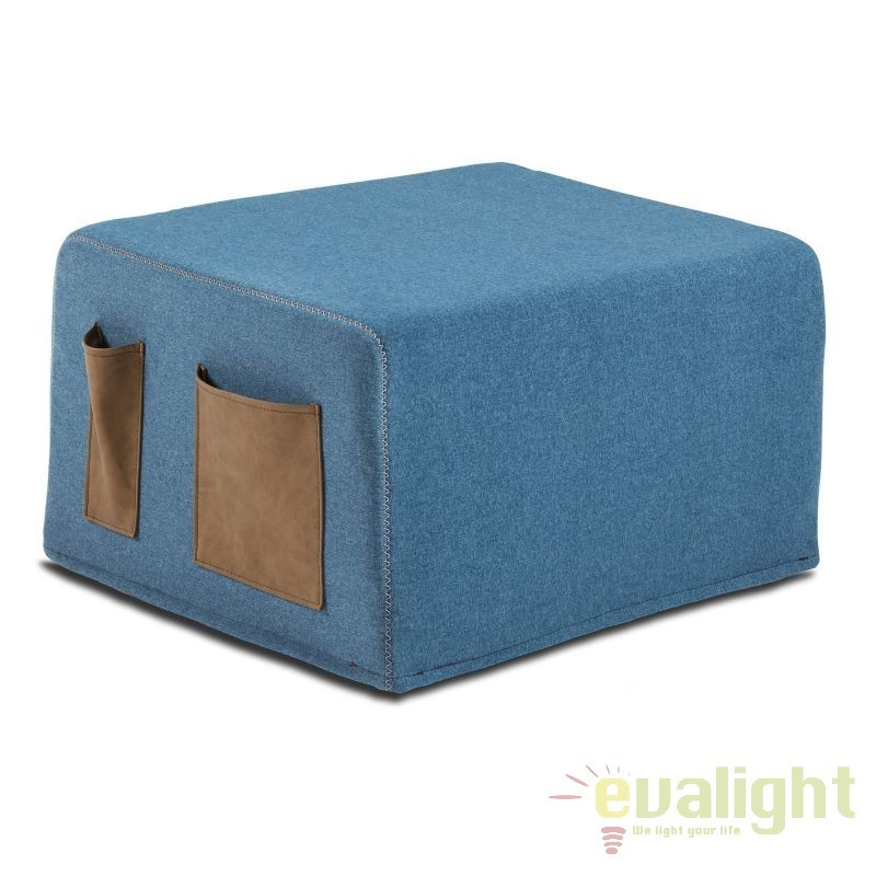 Taburete extensibil/ Pat design practic, modern si confortabil VERSO, albastru inchis S037VA25 JG, Paturi - Noptiere dormitor, Corpuri de iluminat, lustre, aplice, veioze, lampadare, plafoniere. Mobilier si decoratiuni, oglinzi, scaune, fotolii. Oferte speciale iluminat interior si exterior. Livram in toata tara.  a