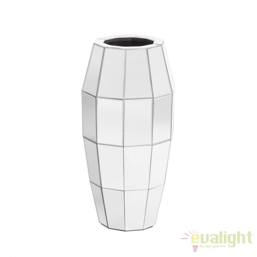 Vaza decorativa placata cu oglinda Glam, 61cm SX-102413, Vaze, Ghivece decorative, Corpuri de iluminat, lustre, aplice, veioze, lampadare, plafoniere. Mobilier si decoratiuni, oglinzi, scaune, fotolii. Oferte speciale iluminat interior si exterior. Livram in toata tara.  a