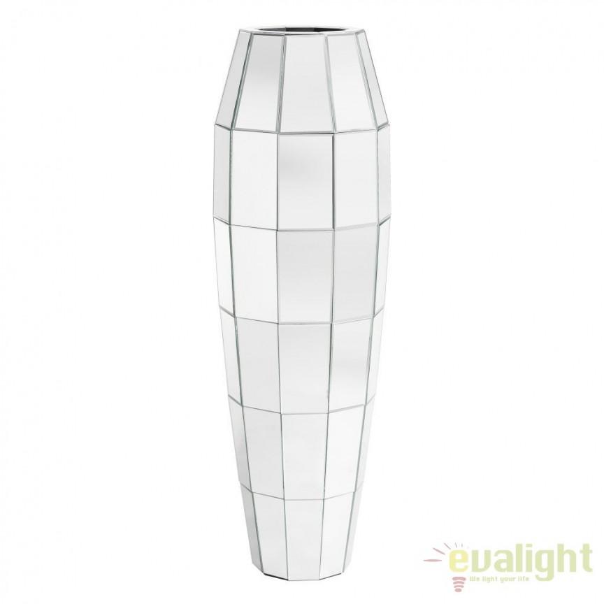 Vaza decorativa placata cu oglinda Glam, 117cm SX-102414, Vaze, Ghivece decorative, Corpuri de iluminat, lustre, aplice, veioze, lampadare, plafoniere. Mobilier si decoratiuni, oglinzi, scaune, fotolii. Oferte speciale iluminat interior si exterior. Livram in toata tara.  a