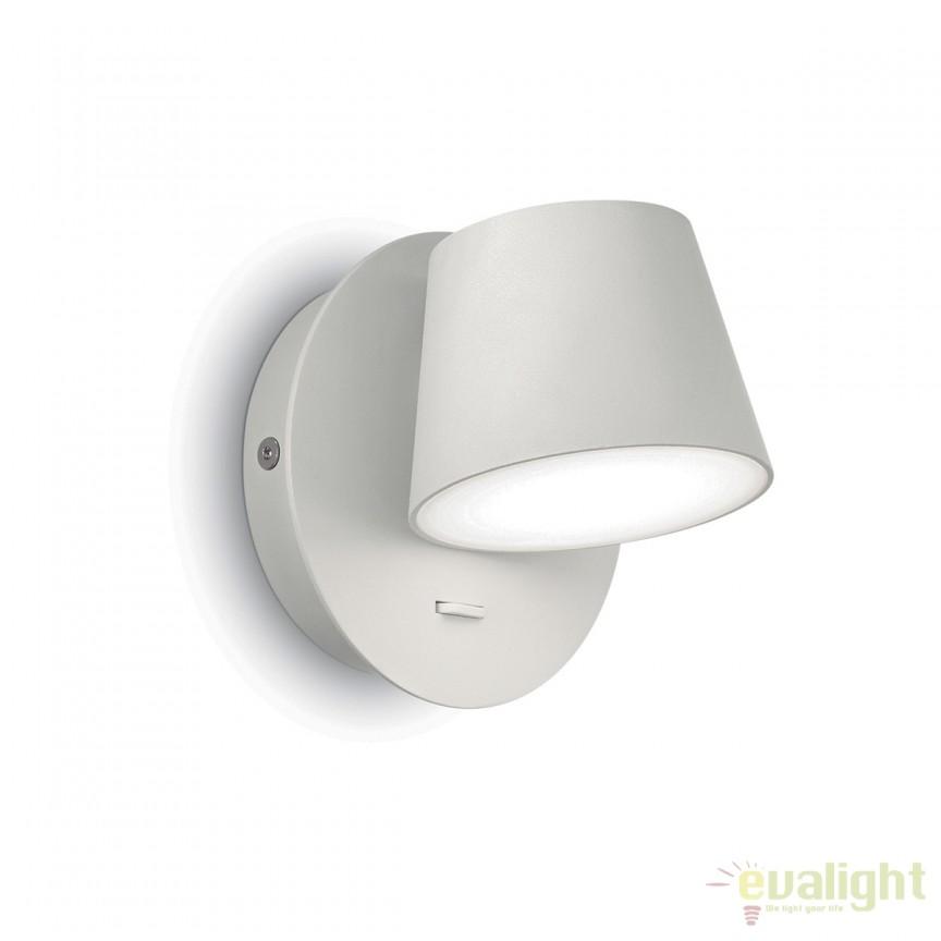 Aplica LED moderna GIM AP1 alba 167152, Aplice de perete LED, Corpuri de iluminat, lustre, aplice, veioze, lampadare, plafoniere. Mobilier si decoratiuni, oglinzi, scaune, fotolii. Oferte speciale iluminat interior si exterior. Livram in toata tara.  a