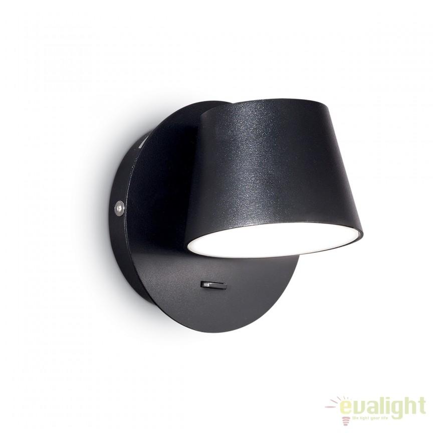 Aplica LED moderna GIM AP1 neagra 167121, Aplice de perete LED, Corpuri de iluminat, lustre, aplice, veioze, lampadare, plafoniere. Mobilier si decoratiuni, oglinzi, scaune, fotolii. Oferte speciale iluminat interior si exterior. Livram in toata tara.  a