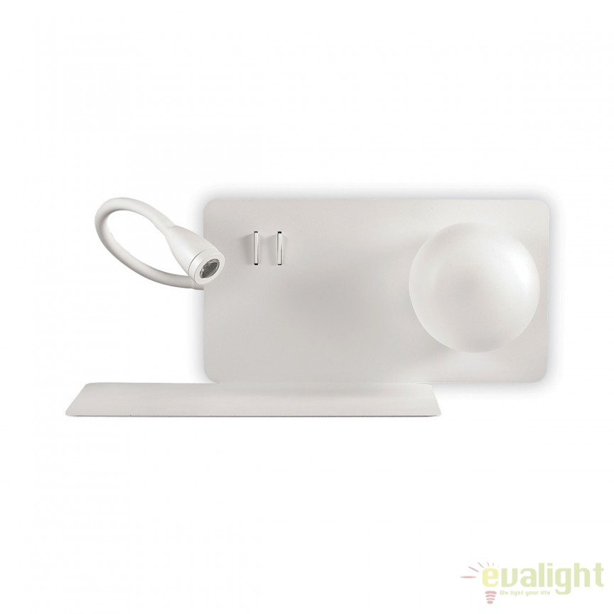 Aplica LED moderna cu reader LED cu port USB BOOK-1 AP2 174792, Aplice de perete LED, moderne⭐ modele potrivite pentru dormitor, living, baie, hol, bucatarie.✅DeSiGn LED decorativ 2021!❤️Promotii lampi❗ ➽ www.evalight.ro. Alege oferte NOI corpuri de iluminat cu LED pt interior, elegante din cristal (becuri cu leduri si module LED integrate cu lumina calda, naturala sau rece), ieftine si de lux, calitate deosebita la cel mai bun pret.  a