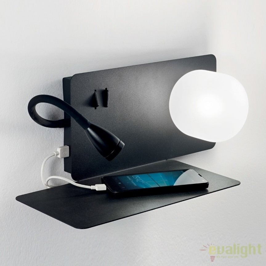 Aplica LED moderna cu reader LED cu port USB BOOK-1 AP2 174808, Aplice de perete LED, Corpuri de iluminat, lustre, aplice, veioze, lampadare, plafoniere. Mobilier si decoratiuni, oglinzi, scaune, fotolii. Oferte speciale iluminat interior si exterior. Livram in toata tara.  a