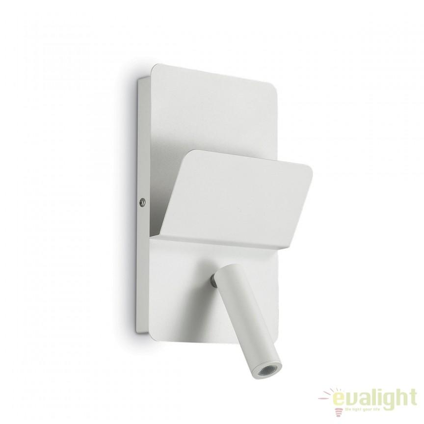 Aplica perete LED moderna reader directionabil cu port USB READ AP1 alba 176536, Aplice de perete LED, moderne⭐ modele potrivite pentru dormitor, living, baie, hol, bucatarie.✅DeSiGn LED decorativ 2021!❤️Promotii lampi❗ ➽ www.evalight.ro. Alege oferte NOI corpuri de iluminat cu LED pt interior, elegante din cristal (becuri cu leduri si module LED integrate cu lumina calda, naturala sau rece), ieftine si de lux, calitate deosebita la cel mai bun pret.  a