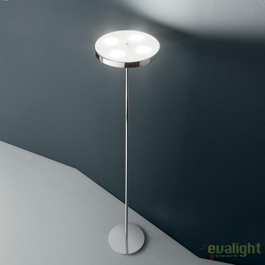 Lampadar LED / Lampa de podea design modern COLONNA PT4 crom 177212, PROMOTII, Corpuri de iluminat, lustre, aplice, veioze, lampadare, plafoniere. Mobilier si decoratiuni, oglinzi, scaune, fotolii. Oferte speciale iluminat interior si exterior. Livram in toata tara.  a