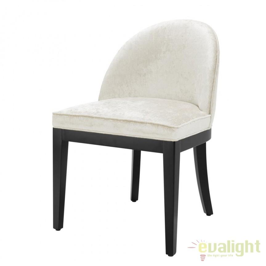 Scaun design LUX Fallon alb/ negru 112136 HZ, Scaune dining , Corpuri de iluminat, lustre, aplice, veioze, lampadare, plafoniere. Mobilier si decoratiuni, oglinzi, scaune, fotolii. Oferte speciale iluminat interior si exterior. Livram in toata tara.  a