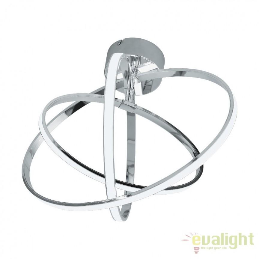 Plafoniera design modern LED, crom, SELVINA 96306 EL, Plafoniere moderne, Corpuri de iluminat, lustre, aplice, veioze, lampadare, plafoniere. Mobilier si decoratiuni, oglinzi, scaune, fotolii. Oferte speciale iluminat interior si exterior. Livram in toata tara.  a