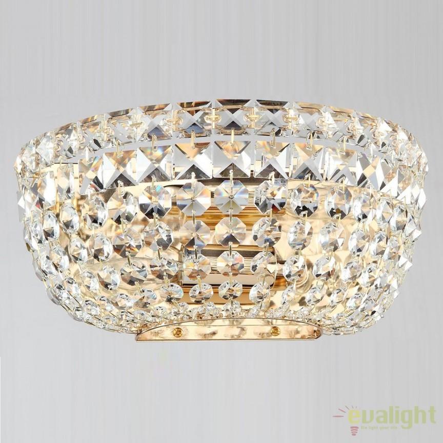 Aplica elegant Basfor, auriu antic MYDIA100-WL-02-G , Aplice de perete clasice, Corpuri de iluminat, lustre, aplice, veioze, lampadare, plafoniere. Mobilier si decoratiuni, oglinzi, scaune, fotolii. Oferte speciale iluminat interior si exterior. Livram in toata tara.  a