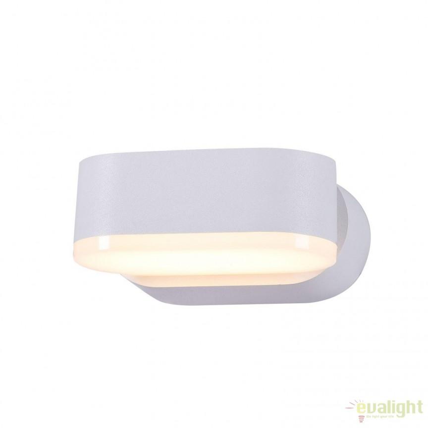 Aplica de exterior cu protectie IP54, LED Broadway alb MYO803WL-L6W, Magazin, Corpuri de iluminat, lustre, aplice, veioze, lampadare, plafoniere. Mobilier si decoratiuni, oglinzi, scaune, fotolii. Oferte speciale iluminat interior si exterior. Livram in toata tara.  a