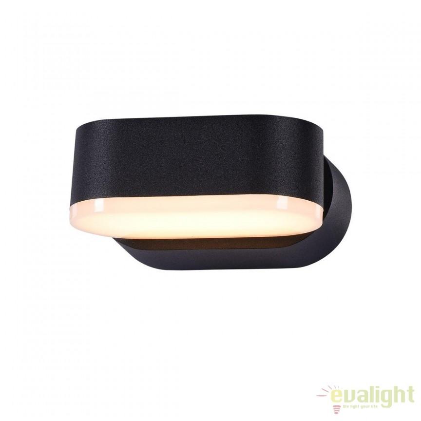 Aplica de exterior cu protectie IP54, LED Broadway negru MYO803WL-L6B, Magazin, Corpuri de iluminat, lustre, aplice, veioze, lampadare, plafoniere. Mobilier si decoratiuni, oglinzi, scaune, fotolii. Oferte speciale iluminat interior si exterior. Livram in toata tara.  a