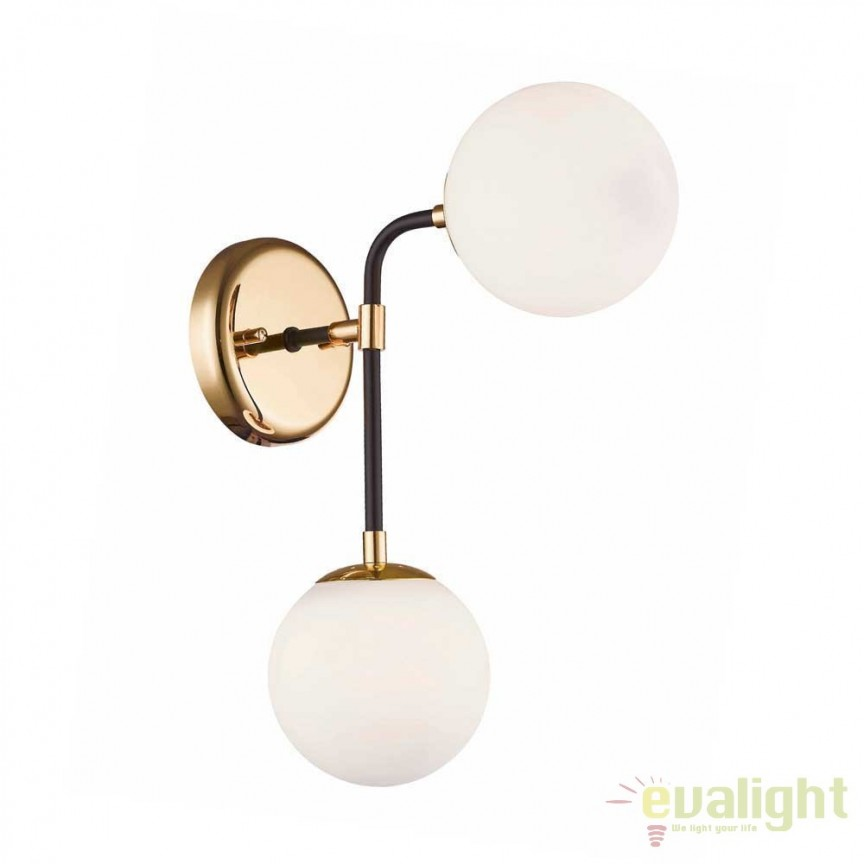 Aplica moderna cu 2 surse de lumina RIANO, opac W0454-02A-SDAA ZL, Magazin, Corpuri de iluminat, lustre, aplice, veioze, lampadare, plafoniere. Mobilier si decoratiuni, oglinzi, scaune, fotolii. Oferte speciale iluminat interior si exterior. Livram in toata tara.  a