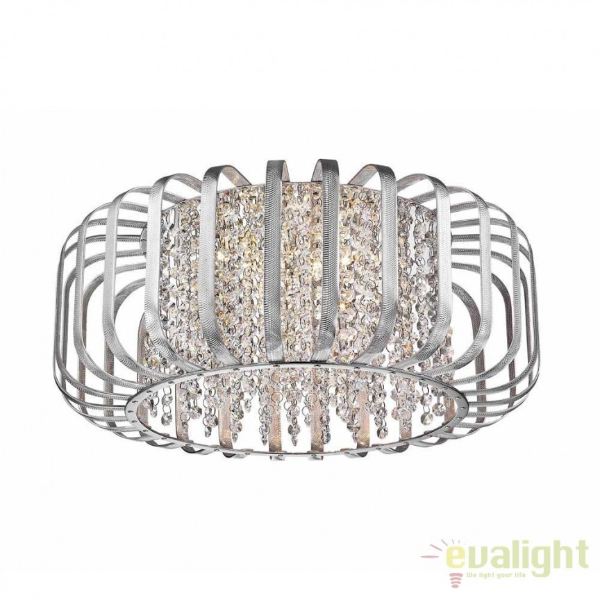 Plafoniera eleganta, argintie din metal anodizat, KANO C0444-06C-B5QL ZL , Plafoniere moderne, Corpuri de iluminat, lustre, aplice, veioze, lampadare, plafoniere. Mobilier si decoratiuni, oglinzi, scaune, fotolii. Oferte speciale iluminat interior si exterior. Livram in toata tara.  a