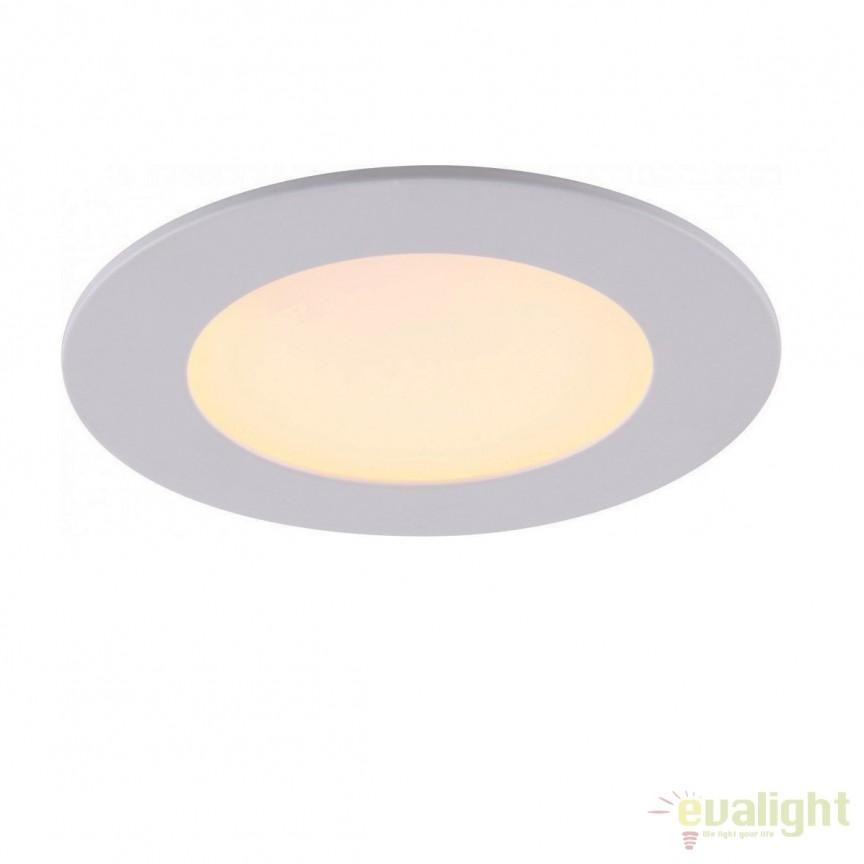 Spot LED incastrabil lumina calda diametru 8,5cm PHILADELPHIA 12350, Spoturi LED incastrate, aplicate, Corpuri de iluminat, lustre, aplice, veioze, lampadare, plafoniere. Mobilier si decoratiuni, oglinzi, scaune, fotolii. Oferte speciale iluminat interior si exterior. Livram in toata tara.  a