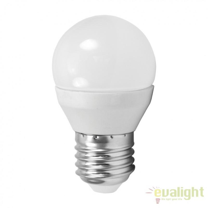 Bec E27-LED-G45 4W 320 lm 3000K 10762 EL, Magazin, Corpuri de iluminat, lustre, aplice, veioze, lampadare, plafoniere. Mobilier si decoratiuni, oglinzi, scaune, fotolii. Oferte speciale iluminat interior si exterior. Livram in toata tara.  a